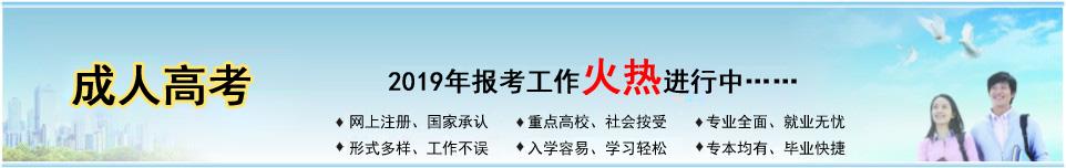 2019年成人高等学校考试招生简章